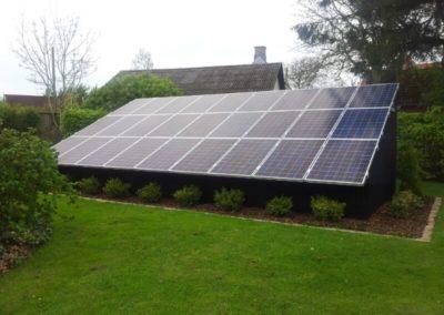 Solceller som tag
